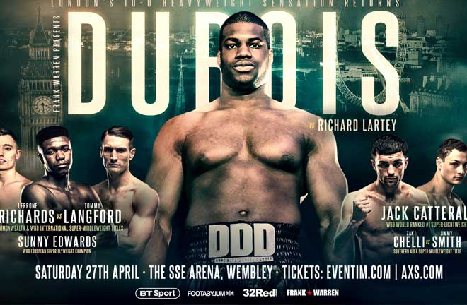 Frank Warren has announced that Daniel Dubois will headline at Wembley Arena on April 27. Credit: Frank Warren