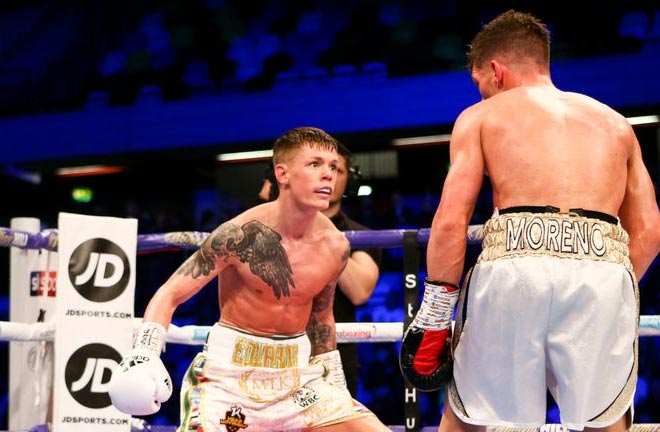 Edwards outpointed points Angel Moreno in his first defence of the WBC world flyweight title. Credit: Sky Sports