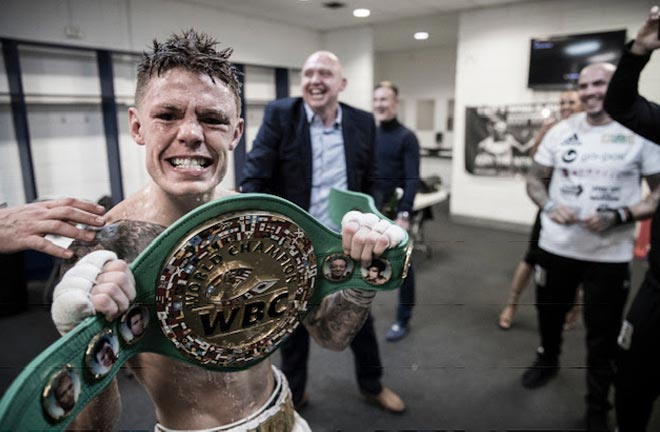 "Charlie Edwards admits his ultimate ambition is to become ""an all-time great in British boxing"". Credit: Matchroom Boxing"