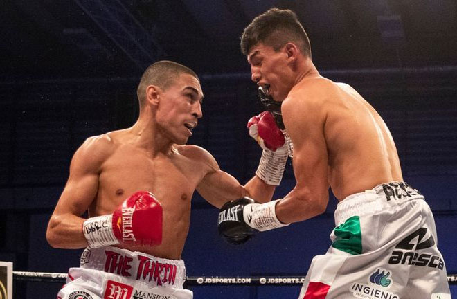 Gill stopped Dominguez in 3 rounds. Photo Credit: Sky Sports