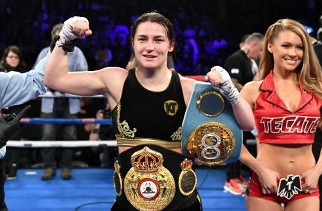 Taylor defends her belts against the Brazilian, and unbeaten WBO Champion, Rose Volante. Credit: BreakingNews.ie