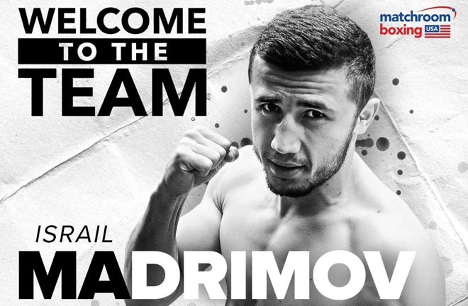 Israil Madrimov has signed a co-promotional deal with Matchroom Boxing USA. Credit: Matchroom Boxing