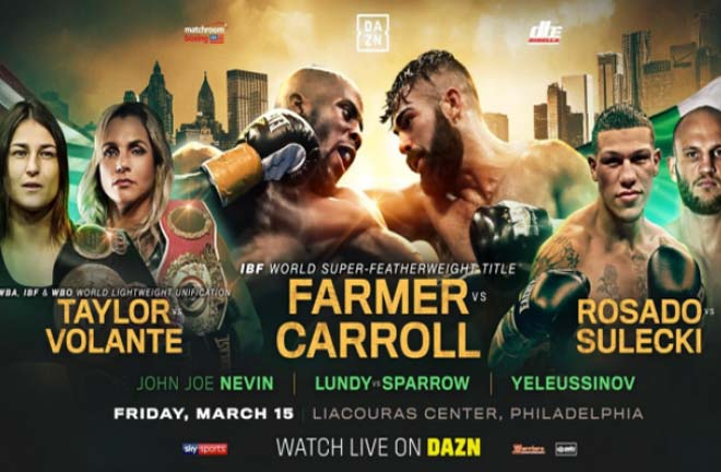 DAZN Philadelphia Undercard Previews & Predictions. Credit: Matchroom Boxing
