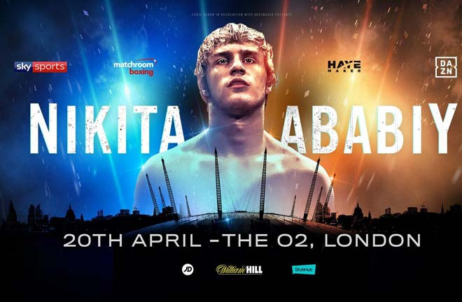Nikita Ababiy will make his UK debut at The O2 in London on April 20. Credit: Matchroom Boxing