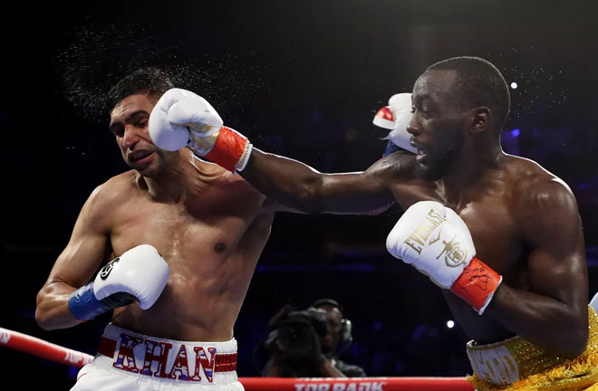 Crawford Dominates Khan to Retain WBO Title. Credit: Bad Left Hook