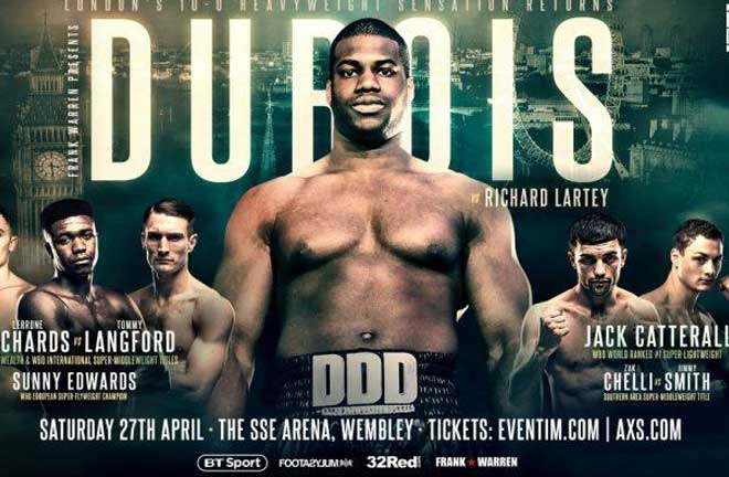 Dubois v Lartey - Big Fight Preview & Prediction. Credit: Frank Warren
