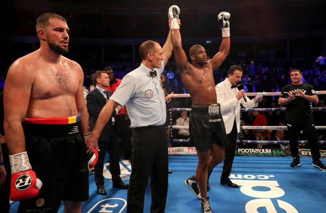 Dubois blasted Razvan Cojanu out inside two rounds. Credit: talkSPORT