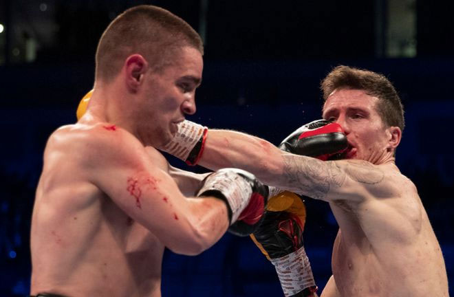Davies Jr scores points win over Joe Hughes. Credit: Sky Sports