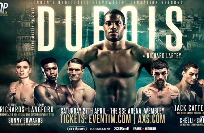 Lartley: Dubois is not the next Joshua, I am. Credit: Frank Warren
