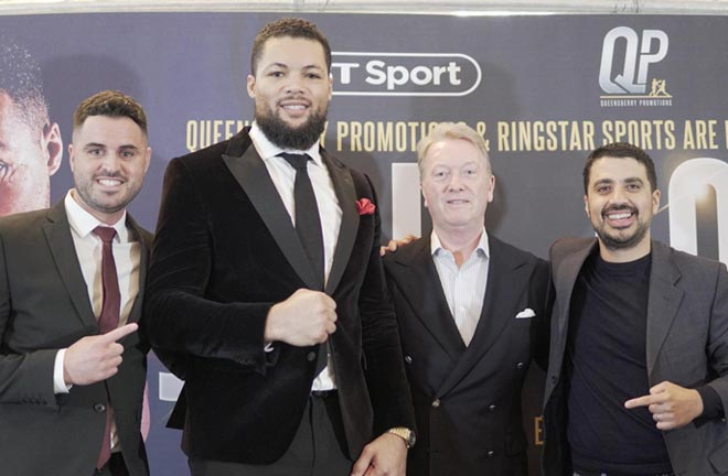 Joe Joyce has signed with Queensberry Promotions in a co-promotional agreement with Ringstar Sports. Credit: Frank Warren