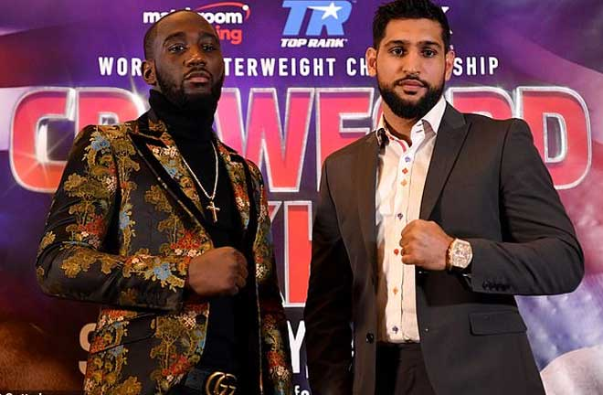 Khan-Crawford go head to head this Saturday in New York. Credit: Daily Mail