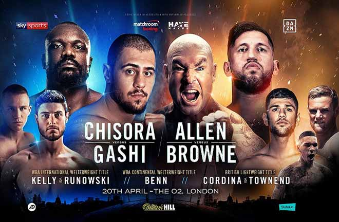 Allen v Browne - Big Fight Preview & Prediction. Credit: Matchroom Boxing