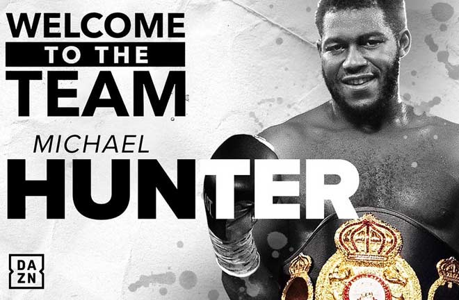 Hunter has signed a promotional deal with Matchroom Boxing USA. Credit: Matchroom Boxing