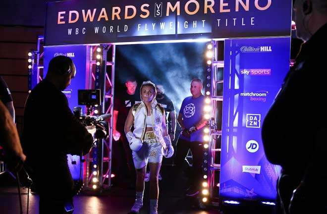 Shannon Courtenay made a wining start to life in the paid ranks. Credit: Matchroom Boxing