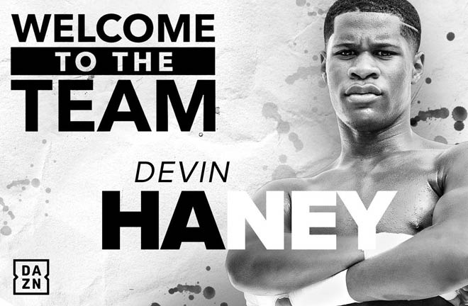 Matchroom Boxing USA and Eddie Hearn are delighted to announce the signing of Lightweight star Devin 'The Dream' Haney. Credit: Matchroom Boxing
