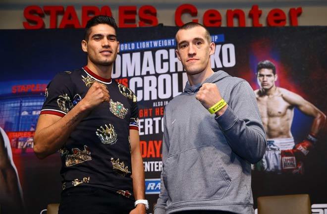 Ramirez-Karpency face off. Credit: Boxing Scene
