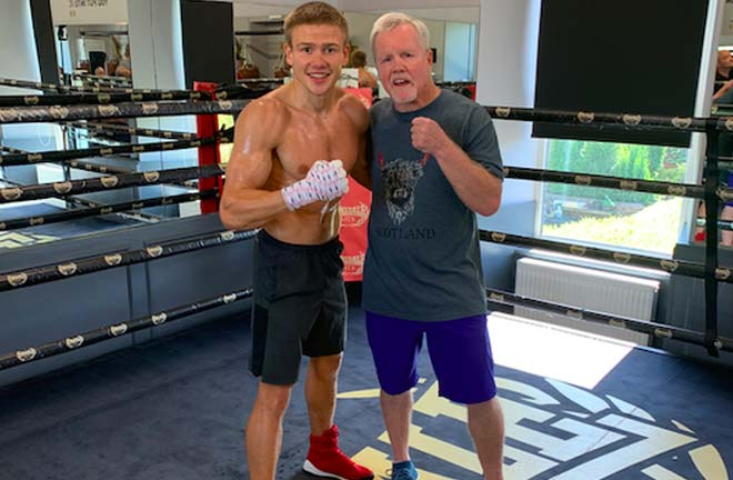 Baranchyk: I want to be famous here, I want the Scots to become my fans. Credit: WBSS