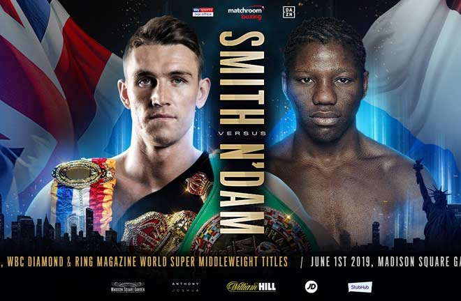 Smith will defend belts against Hassan N'Dam. Credit: Matchroom Boxing