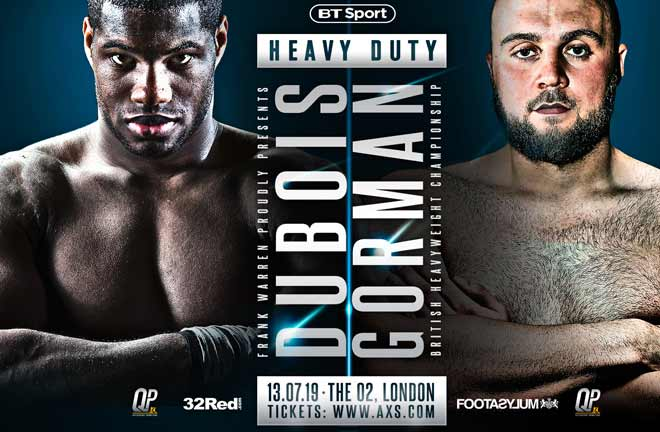 Hatton - the clash between Daniel Dubois and Nathan Gorman proves the strength of British heavyweight boxing. Credit: Frank Warren