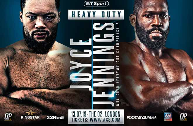 Joyce to face Bryant Jennings on July 13. Credit: Frank Warren