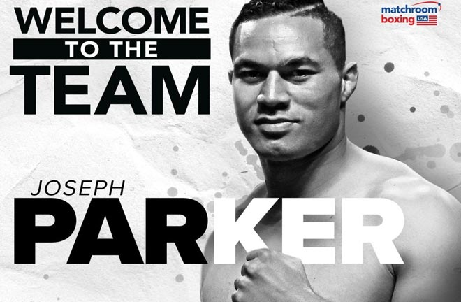 Joseph Parker signs a promotional deal with Matchroom Boxing. Credit: Matchroom Boxing
