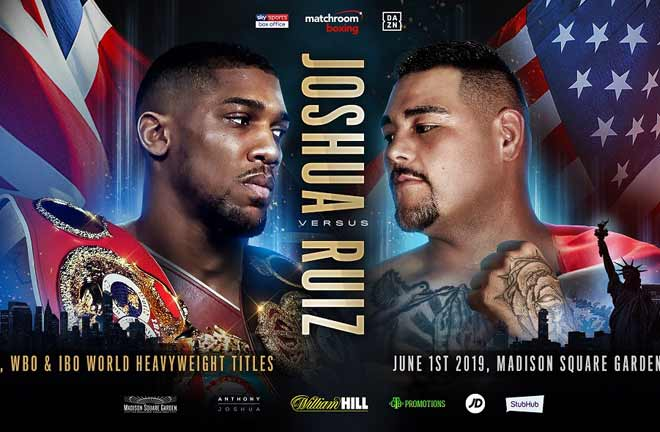 Anthony Joshua will take on Andy Ruiz Jr on June 1. Credit: Matchroom Boxing