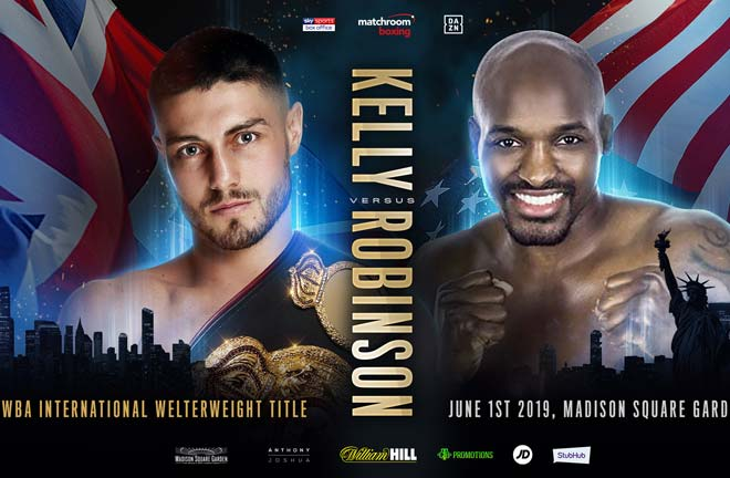 Josh Kelly will make his US debut against Philadelphia's Ray Robinson. Credit: Matchroom Boxing