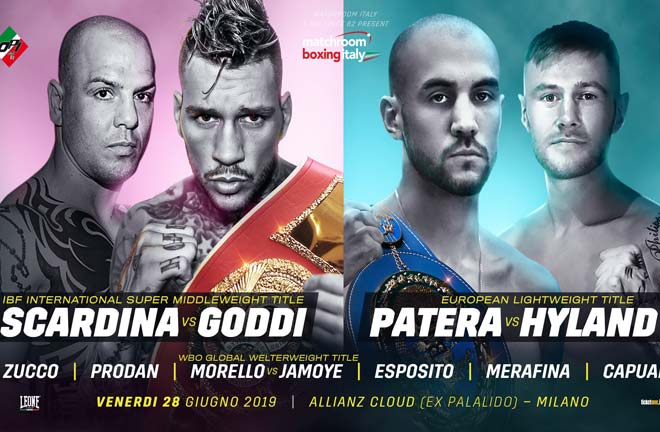 Francesco Patera will defend his EBU European Lightweight title against Paul Hyland Jr. Credit: Matchroom Boxing