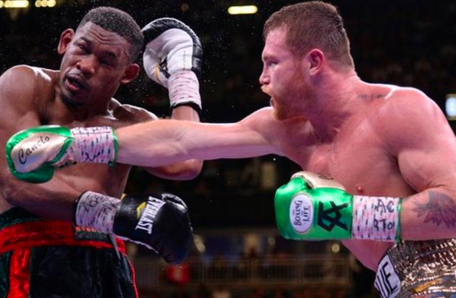 Jacobs was beaten by Canelo Alvarez on points in May Credit: BBC Sport / Reuteurs