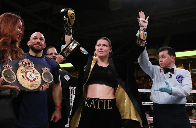 Katie Taylor takes on Delfine Persoon on June 1. Credit: Matchroom Boxing