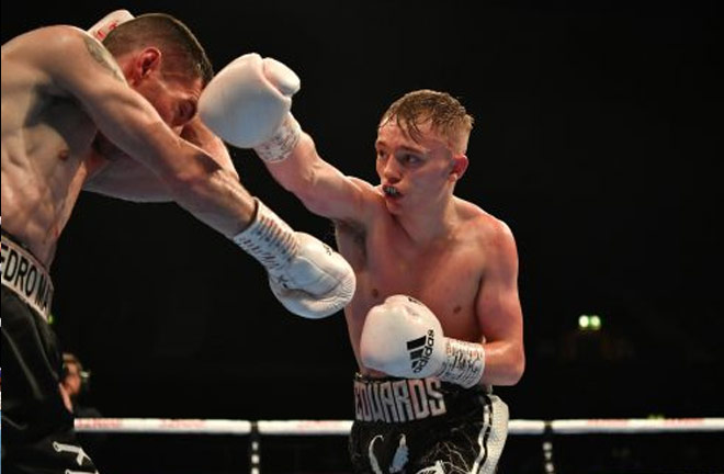 Edwards produced an eighth round stoppage of Pedro Matos. Credit: South London Press