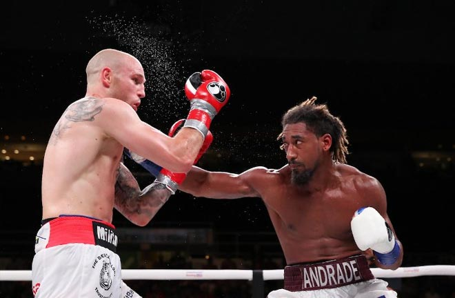 Andrade defended his crown against Maciej Sulecki in Providence in June Credit: Boxing Scene