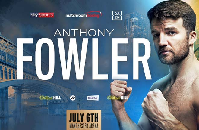 Anthony Fowler will return to the ring on July 6 at Manchester Arena. Credit: Matchroom Boxing