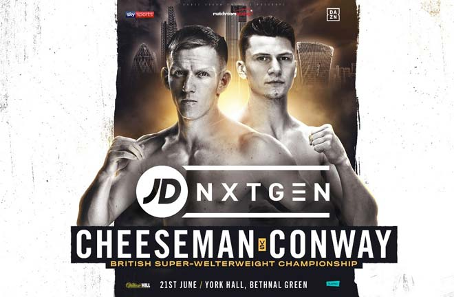 Ted Cheeseman will make the first defence of his British Super-Welterweight title against Kieron Conway. Credit: Matchroom Boxing
