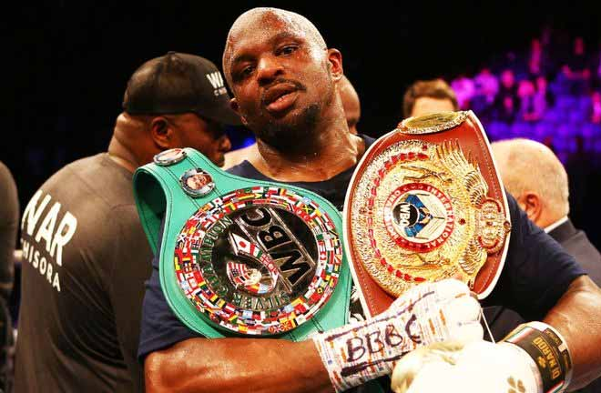 Dillian Whyte is waiting for a shot at Deontay Wilder's WBC heavyweight title Credit: Sky Sports