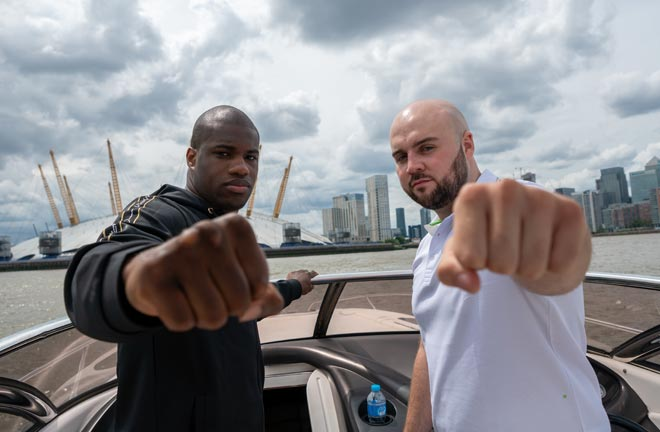 Daniel Dubois and Nathan Gorman go head to head on July 13 at The O2 London. Credit: Frank Warren