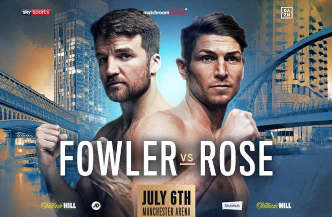 Fowler steps in to face Brian Rose. Credit: Matchroom Boxing