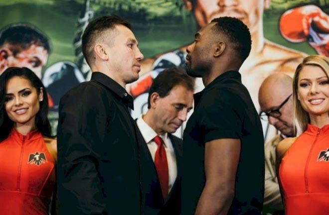 Golovkin-Rolls face off. Credit: boxingnews24.com