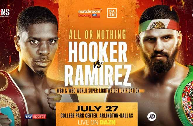 Hooker and Ramirez will clash in a World Super-Lightweight unification clash on Saturday July 27.