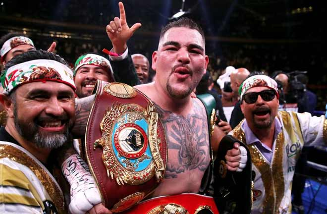 Former unified heavyweight champion Andy Ruiz Jr will make his return in 2020 Credit: Forbes