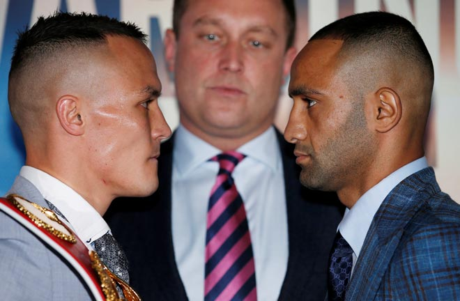 Warrington-Galahad go head to head this Saturday night. Credit: Frank Warren
