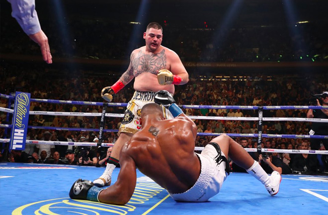 Anthony Joshua was knocked down 4 times on a historic night for heavyweight boxing.
