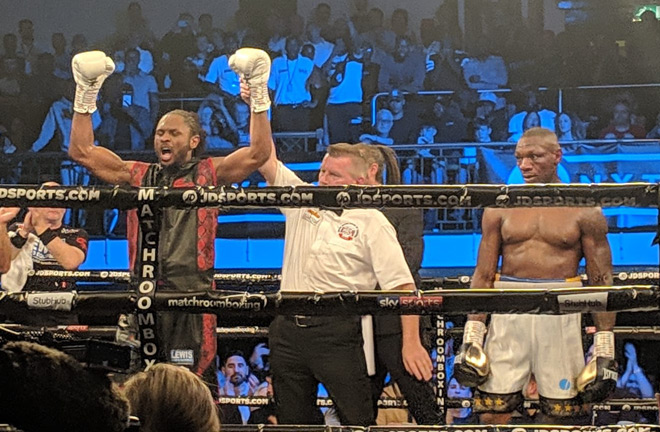 Craig Richards wins against Andre Sterling by UD on all 3 judges scorecard.
