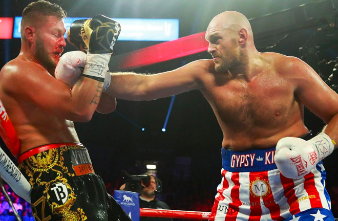 Tyson Fury wins with a comfortable second round KO of Tom Schwarz.