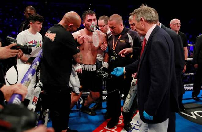 Dave Allen was rushed to hospital after the David Price fight. Credit: Mirror