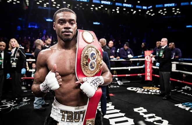 Errol Spence Jr is in hospital following a serious car crash in Dallas Credit: The Ring