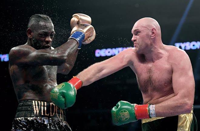 A rematch with Tyson Fury could be next for Wilder with victory on Saturday Credit: MMA Mania