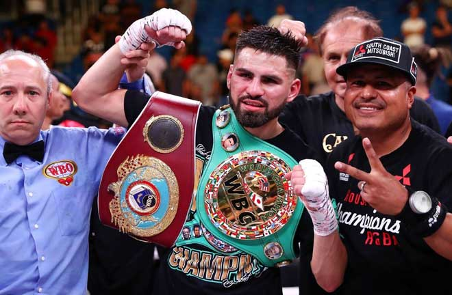 Ramirez unified his WBC belt with Maurice Hooker's IBF title last July Credit: ESPN
