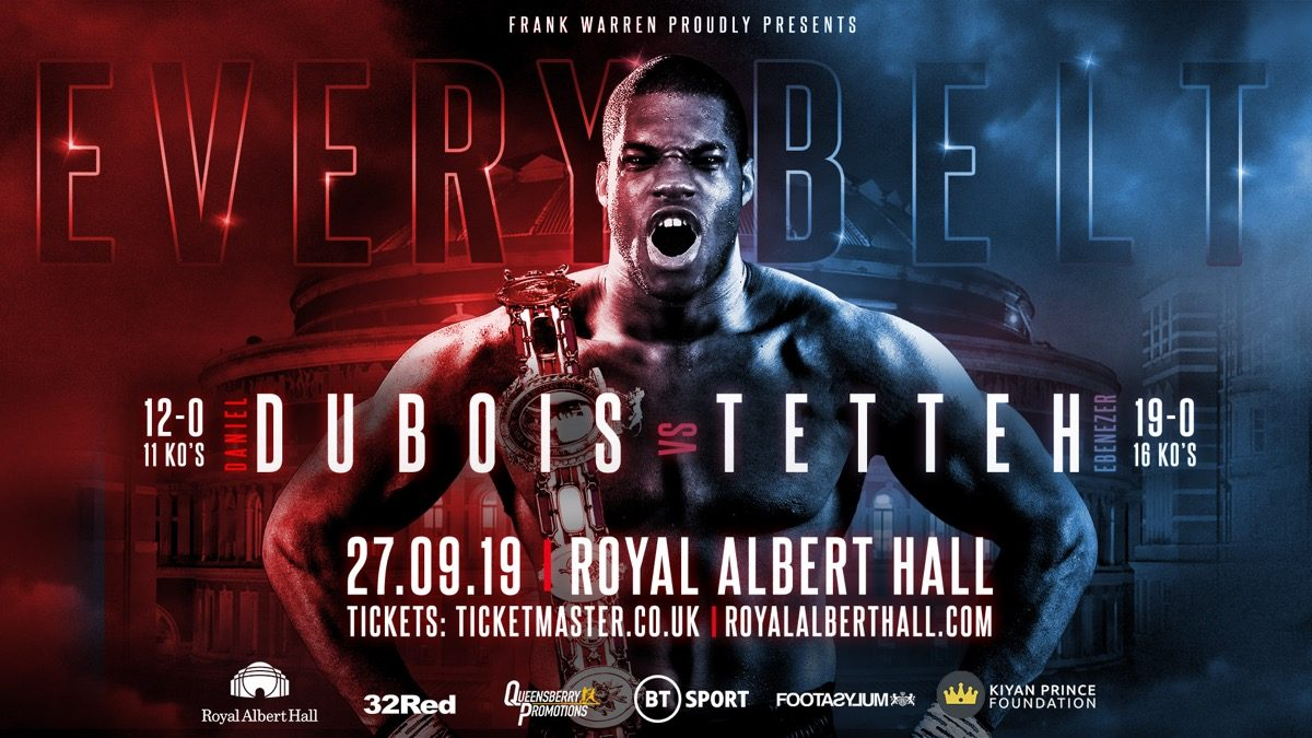 Tetteh: Dubois is overlooking me. Credit: Frank Warren
