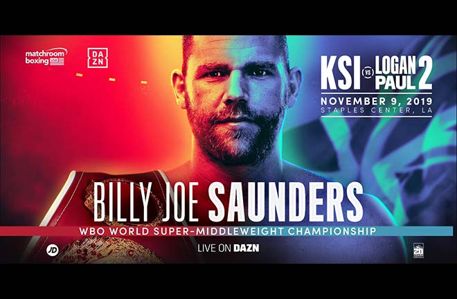 Saunders will defend his WBO super-mddleweight strap in LA on November 9 Credit: Matchroom Boxing